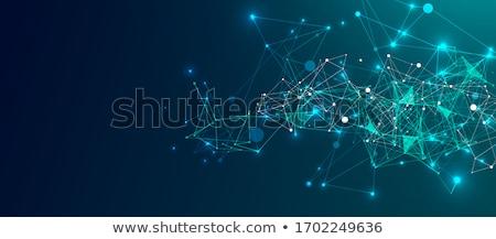 Digitális izzó tech részecskék terv tájkép Stock fotó © SArts
