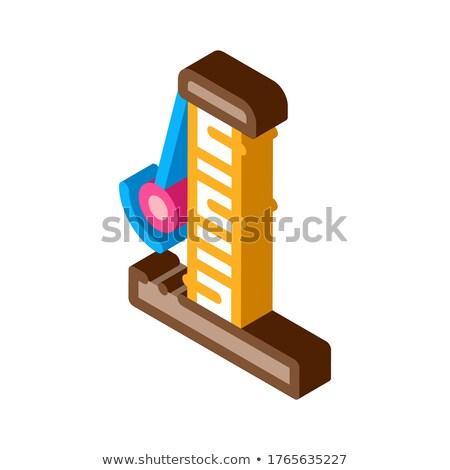 Isométrique icône vecteur signe couleur Photo stock © pikepicture