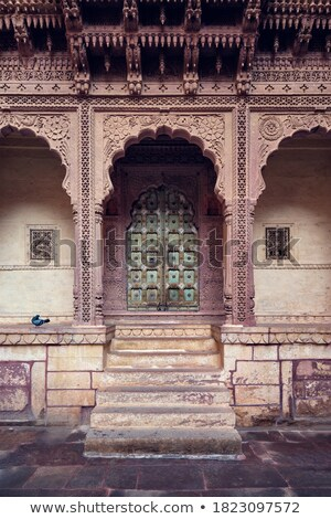Arched gateway in Mehrangarh fort. Jodhpur, Rajasthan, India Stock photo © dmitry_rukhlenko