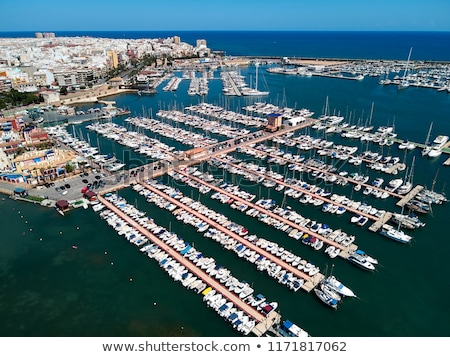 Above view of Torrevieja city. Costa Blanca. Spain Stock photo © amok