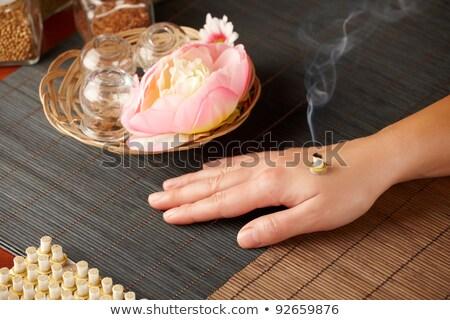 mini · vara · terapia · tradicional · medicina · chinesa · mão - foto stock © amaviael