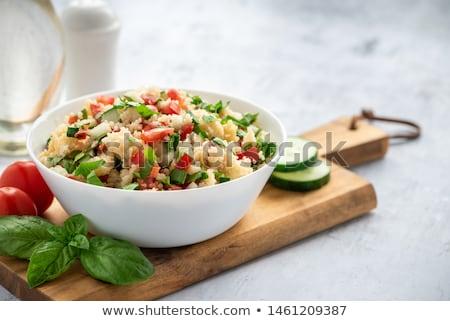 Kuskus sebze yemek taze yemek diyet Stok fotoğraf © M-studio