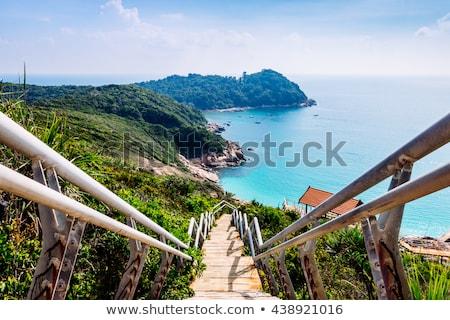 острове · синий · воды · фон · красоту · лет - Сток-фото © compuinfoto