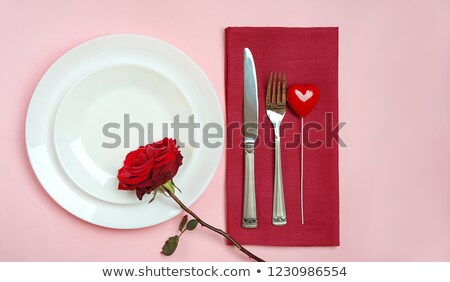 14 rojo corazón 3D banner blanco Foto stock © marinini