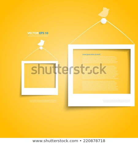 photos frame with abstract cloud isolated on white stock photo © fotoscool
