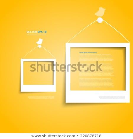 öreg · Polaroid · fotók · antik · háttér · papír - stock fotó © fotoscool
