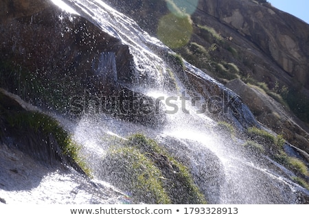 Waterfall and Rocks stock photo © rhamm