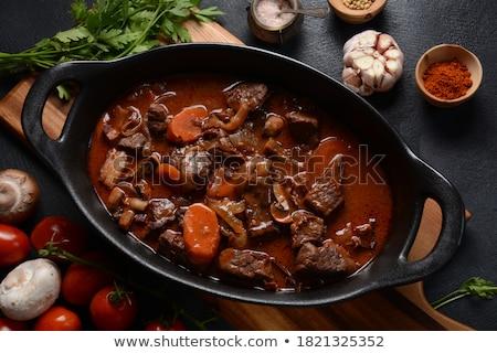 Champignons stoven heerlijk champignon ui Stockfoto © zhekos