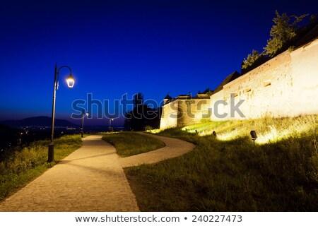 Starych twierdza noc niebo podróży Zdjęcia stock © pixachi