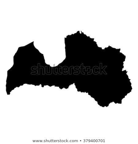 Kaart Letland zwarte vector geïsoleerd Stockfoto © rbiedermann