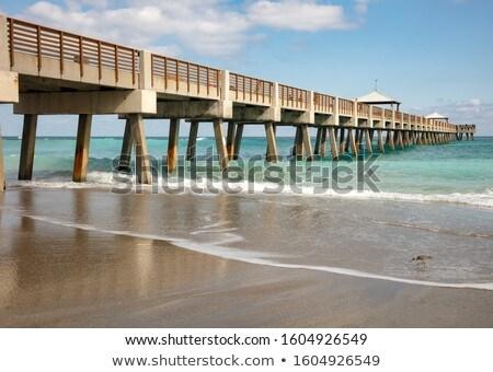 napos · tengerpart · város · Miami · Florida · égbolt - stock fotó © meinzahn