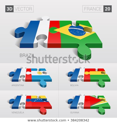 Argentina and France Flags in puzzle  Stock photo © Istanbul2009