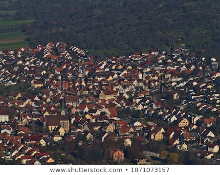aerial view of resdential area and foothills Stock photo © PixelsAway