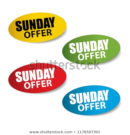 Sunday Offer Red Vector Icon Design Stock photo © rizwanali3d