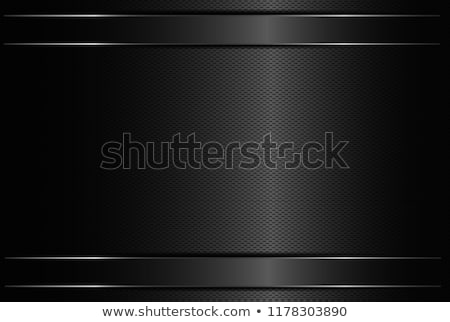 çizgili · madeni · siyah · zarif · az · hatları - stok fotoğraf © mikhailmishchenko