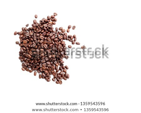 macro shot of coffee roasted beans background stock photo © dla4