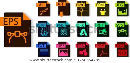 Immagine file tipo formato icona design Foto d'archivio © kiddaikiddee