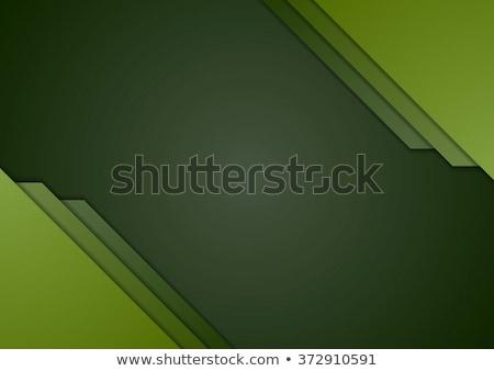 Stock photo: Dark green corporate material brochure design