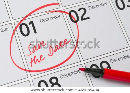 Zapisać data napisany kalendarza grudzień pióro Zdjęcia stock © Zerbor