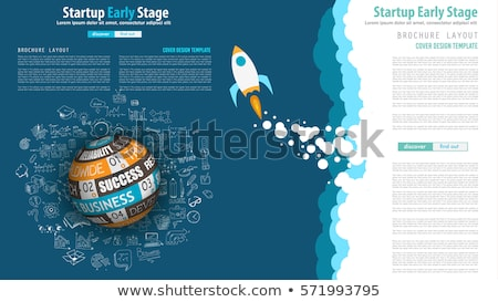Startup Landing Webpage or Corporate Design Covers Stock photo © DavidArts