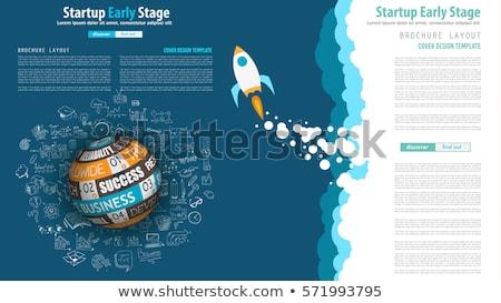 business · startup · banner · lijn · stijl · man - stockfoto © davidarts