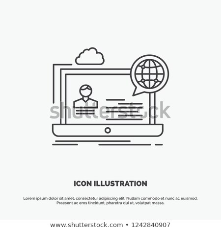 Webinar icon toetsenbord business internet Stockfoto © Oakozhan