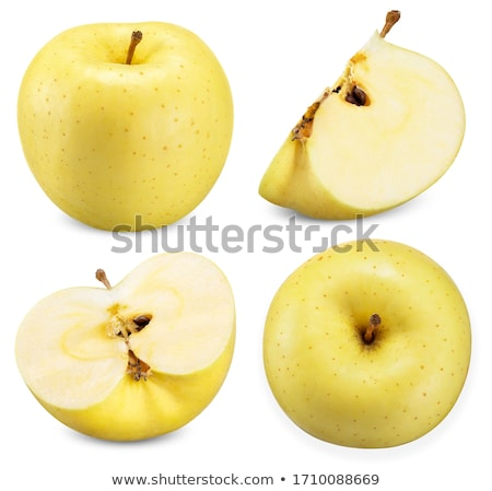 yellow apple with piece cut stock photo © digitalr
