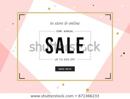 Promóciós vásár szalag terv rózsaszín mértani Stock fotó © SArts