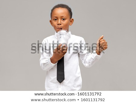 Boy drinking smoothie Stock photo © IS2