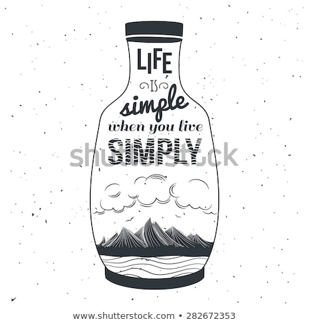 Hand drawn typography poster with creative slogan: life is a dic Stock photo © balasoiu