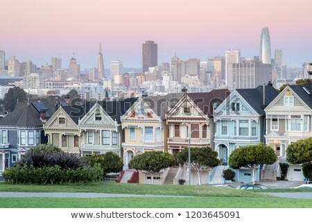 Twilight over the Painted Ladies of San Francisco. Stock photo © yhelfman