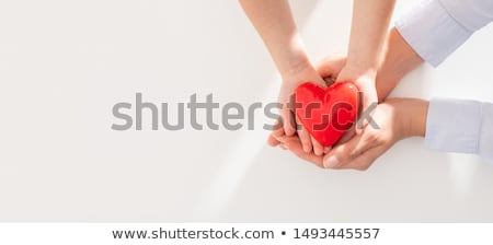 Heart cardiogram red background Stock photo © alexaldo