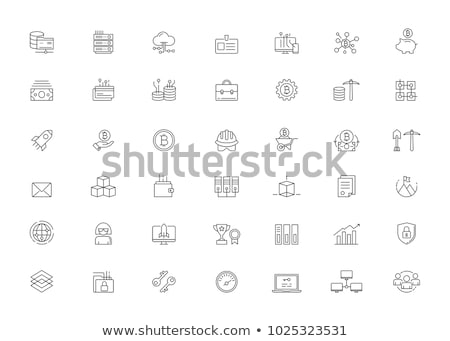 üzlet · háló · puha · ikon · gyűjtemény · vektor · eps10 - stock fotó © robuart