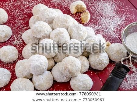 Caseiro grego natal bolinhos açúcar de confeiteiro Foto stock © mpessaris