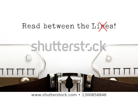 Read Between The Lies Concept On Typewriter Stock photo © ivelin