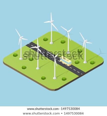シルエット · 風力タービン · 電気 · 日没 · 空 · 技術 - ストックフォト © carloscastilla