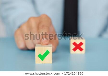 check marks arranged white blocks stock photo © andreypopov
