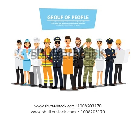 Set of people with different occupation stock photo © colematt