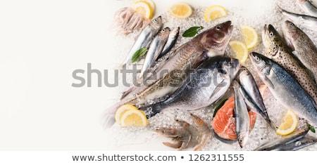 Fresche frutti di mare trota pesce erbe spezie Foto d'archivio © karandaev