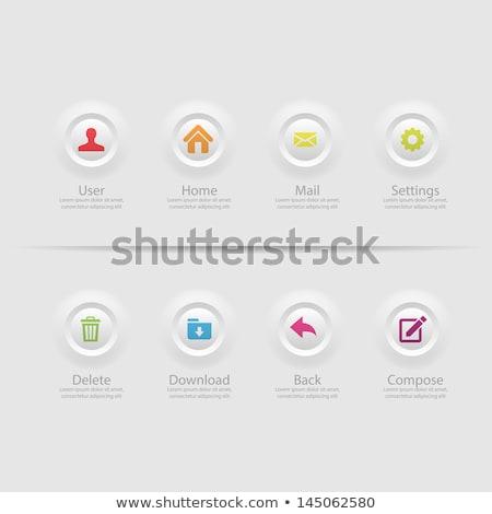 Website media elements webpage template. Stock photo © RAStudio