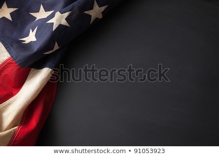 chalkboard on american flag Stock photo © dolgachov