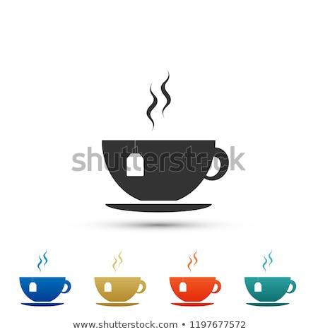 Terv reggel aroma forró ital csésze tea Stock fotó © barsrsind