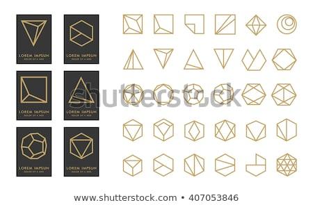 Seis mínimo logo línea estilo establecer Foto stock © SArts