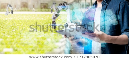 Modern okos gazdálkodás mezőgazdaság technológia farm Stock fotó © AndreyPopov