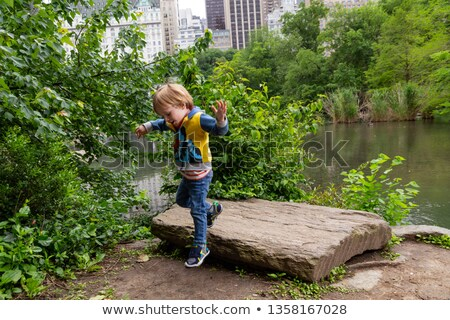 family jump outdoor in city on spring Stock photo © Paha_L