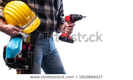 Artesão ferramentas homem trabalhar em pé roupa Foto stock © photography33