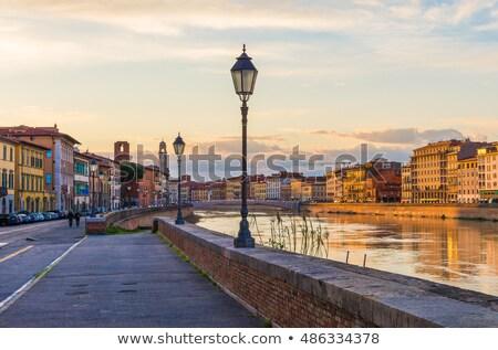 Baptistry of Pisa at sunset, Tuscany, Italy Stock photo © fisfra