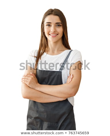 Smiling woman carpenter on white background Stock photo © photography33