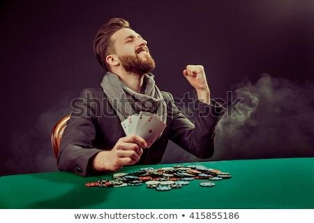 kaart · speler · winnend · foto · man · spelen - stockfoto © sumners