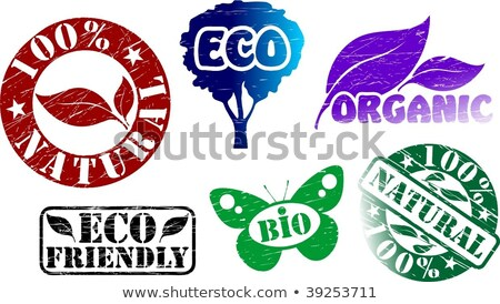 Eco Friendly Sticker, Oval Tag  Stock photo © olivier_le_moal